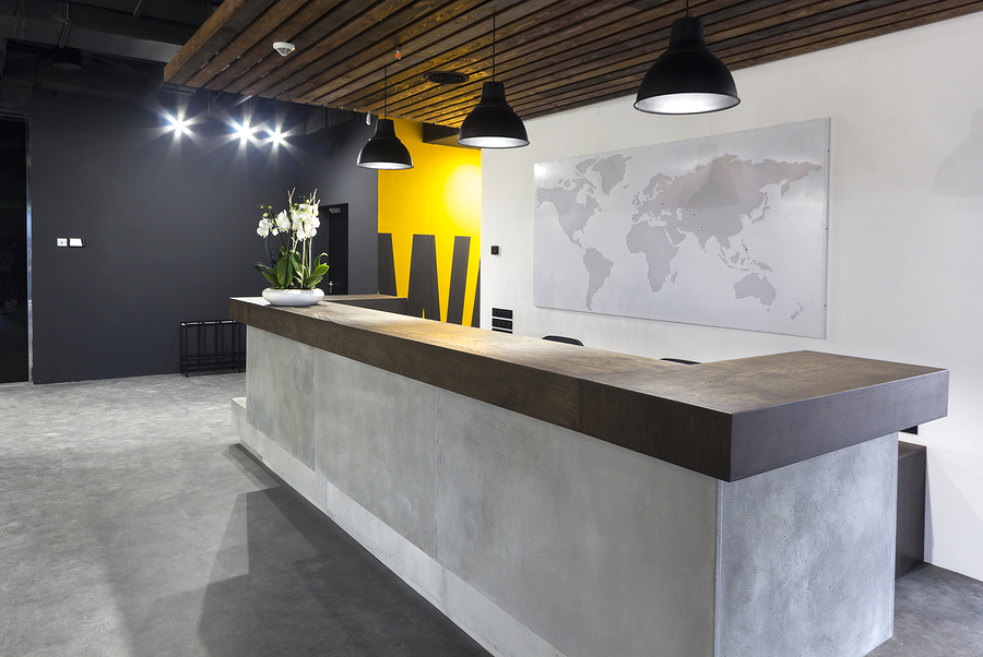 office reception fitout example